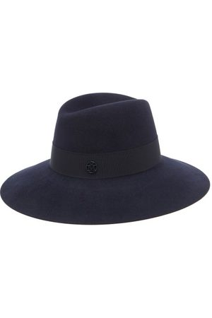 Le Mont St Michel Kate Felt Fedora Hat - Womens - Navy