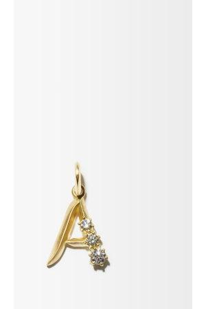 Jade Trau Diamond & 18kt Initial Charm (a-m) - Womens