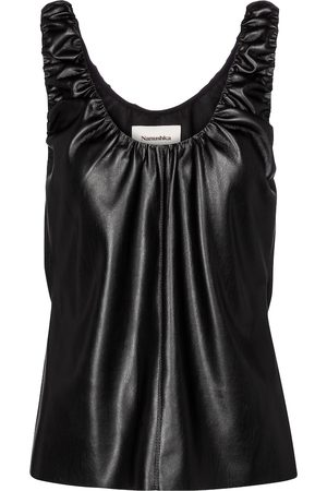 Nanushka Yael faux leather top