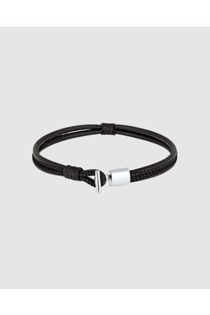Kuzzoi Bracelet Genuine Leather Knot 925 Sterling Silver - Jewellery Bracelet Genuine Leather Knot 925 Sterling Silver
