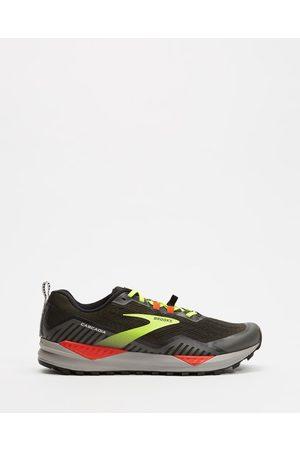 Brooks Men Sneakers - Cascadia 15 Men's - Performance Shoes ( , Raven & Cherry Tomato) Cascadia 15 - Men's