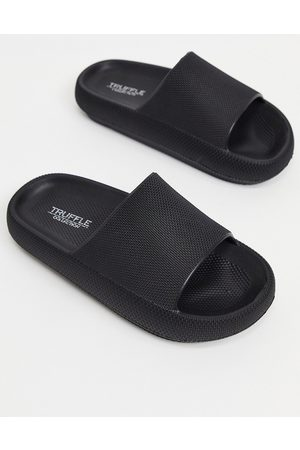 Truffle Collection Pool slides in black