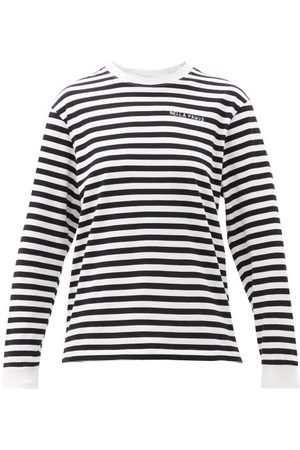 Bella Freud Logo-embroidered Striped Cotton-jersey T-shirt - Womens