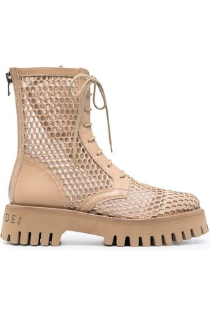 Casadei Women Lace-up Boots - Mesh lace-up boots