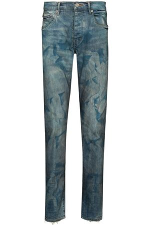 Purple Brand Bleached effect skinny jeans