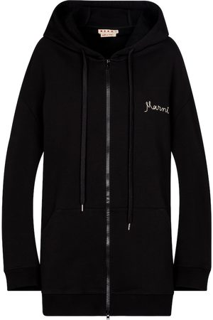 Marni Logo cotton jersey hoodie