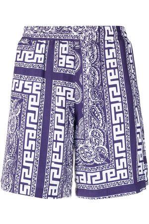 ARIES Men Bermudas - Paisley-print shorts