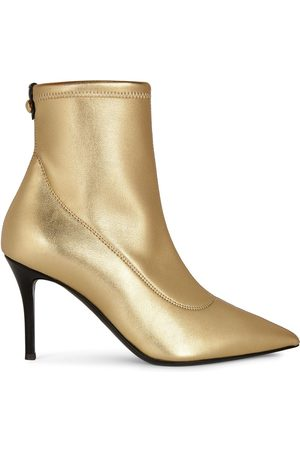 Giuseppe Zanotti Women Ankle Boots - Metallic pointed leather ankle boots
