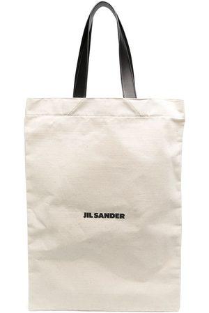 Jil Sander Maxi logo tote bag