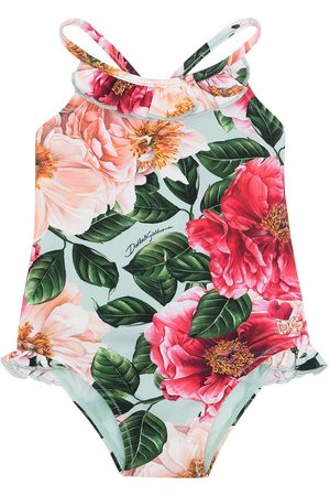 Dolce & Gabbana Baby Swimsuits - Floral-print swimsuit