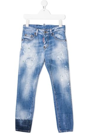 Dsquared2 Ripped paint splatter jeans