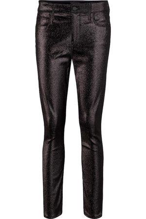 RTA Madrid metallic mid-rise skinny jeans