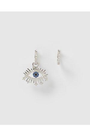 Izoa Nora Eye Huggie Earrings - Jewellery Nora Eye Huggie Earrings