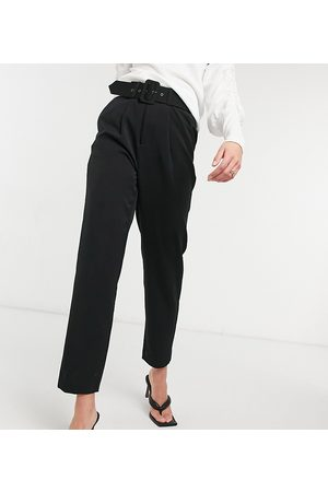 Vero Moda Cigarette pants with belted waist in black