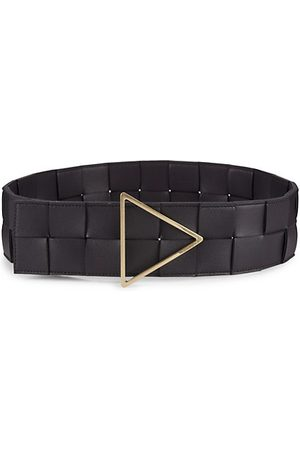Bottega Veneta Wide Intreccio Leather Belt