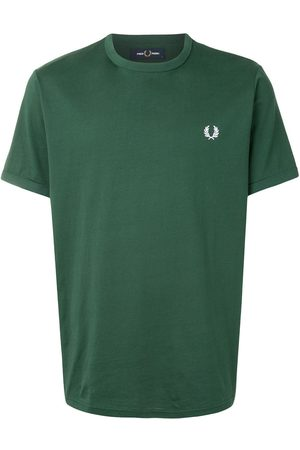 Fred Perry Men Short Sleeve - Embroidered logo cotton T-shirt