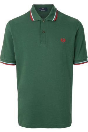 Fred Perry Men Polo Shirts - Stripe-trim logo polon shirt