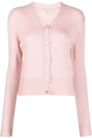 Emilio Pucci Women Cardigans - Embroidered-logo cardigan