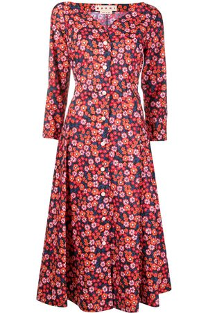 Marni Floral-print shirt dress