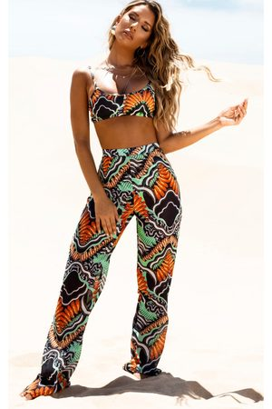 PRETTYLITTLETHING Printed Dresses - Tribal Print Beach Flares