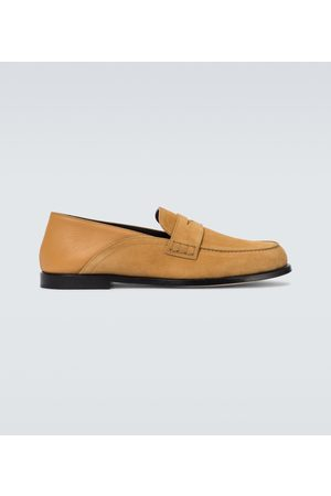 Loewe Men Loafers - Slip-on suede loafers