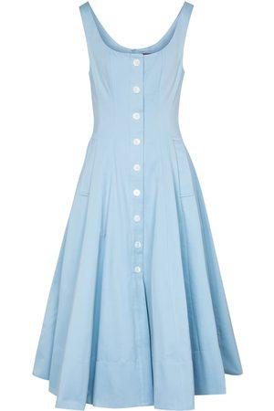 Staud Alix cotton-blend faille maxi dress