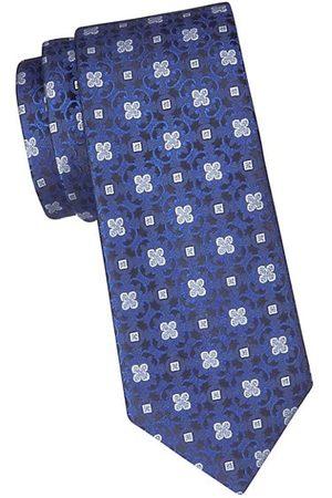 Charvet Large Scale Clover Silk Tie
