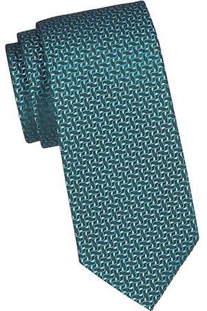 Charvet Ivy Leaf Silk Tie