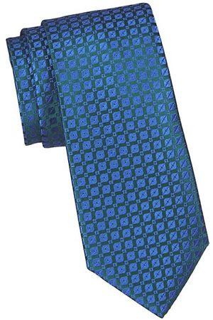Charvet Men Neckties - Neat Geo Thread Silk Tie