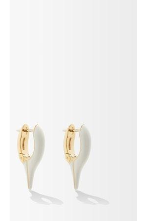 Melissa Kaye Lola Enamel & 18kt Gold Needle Earrings - Womens - Multi