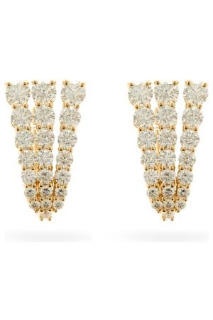 Melissa Kaye Aria Fan Diamond & 18kt Earrings - Womens