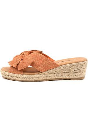 Django & Juliette Serena Dj Cantaloupe Sandals Womens Shoes Casual Heeled Sandals