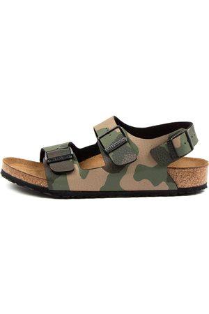 Birkenstock Boys Sandals - Milano Bf Jnr Bk Bk Camo Sandals Boys Shoes Casual Sandals Flat Sandals