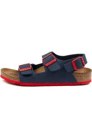 Birkenstock Milano Bf Jnr Bk Bk Navy Sandals Boys Shoes Casual Sandals Flat Sandals