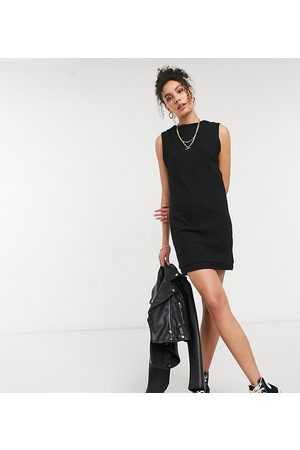 ASOS ASOS DESIGN Tall brushed rib sleeveless mini dress in black