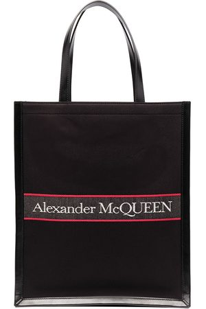 Alexander McQueen Embroidered-logo tote bag