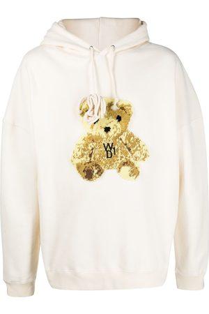 We11done Teddy bear patch hoodie