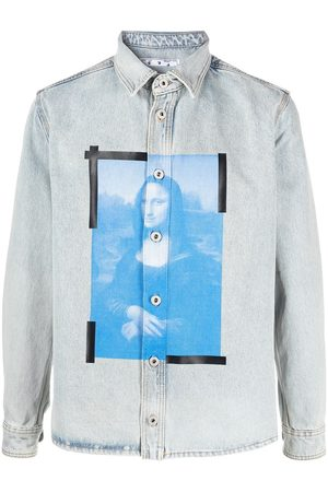 OFF-WHITE MONALISA DENIM SHIRT BLEACH WHITE