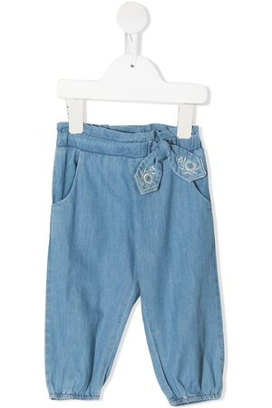 Chloé Embroidered elasticated waistband jeans