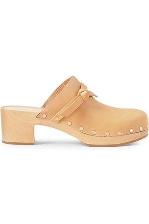 Loeffler Randall Leather Low Heel Clogs