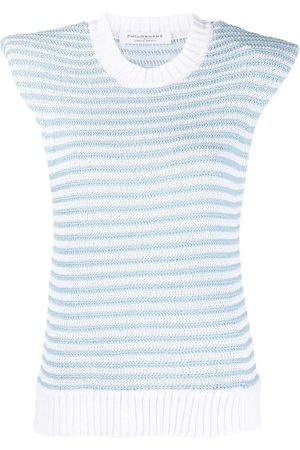 Serafini Striped cap-sleeve top