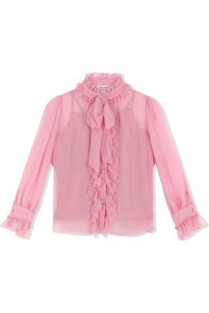 Dolce & Gabbana Pussy bow-fastening silk shirt