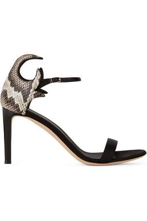Giuseppe Zanotti Snake counter-heel sandals