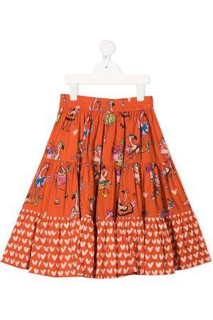 Stella McCartney Flamingo Party skirt