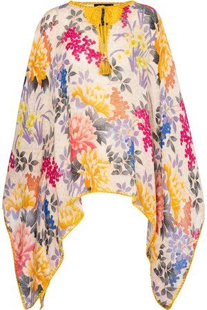 Etro Printed linen poncho