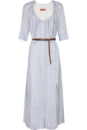 Altuzarra Checked midi dress