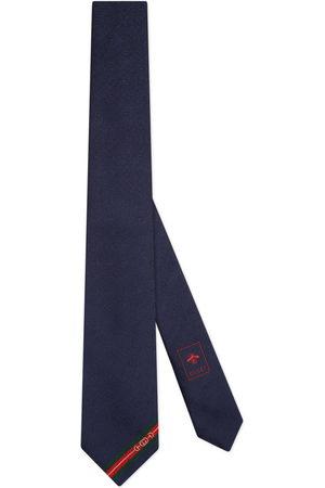 Gucci Men Neckties - Double G and Horsebit jacquard silk tie