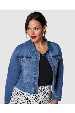 Sunday In The City Women Denim Jackets - Chatterbox Crop Denim Jacket - Denim jacket Chatterbox Crop Denim Jacket
