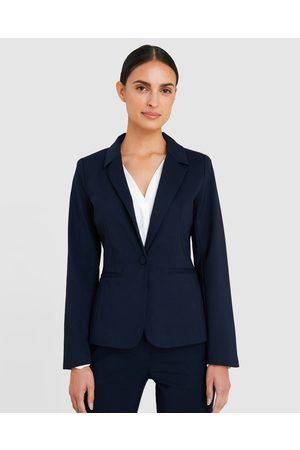 Forcast Women Blazers - Taylor Suit Jacket - Blazers (Navy) Taylor Suit Jacket