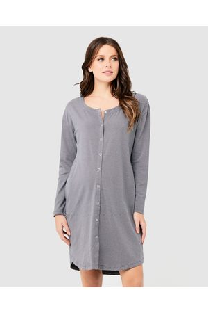 Ripe Maternity Women Nightdresses & Shirts - Blake Organic Nightie - Sleepwear (Gunship/ ) Blake Organic Nightie